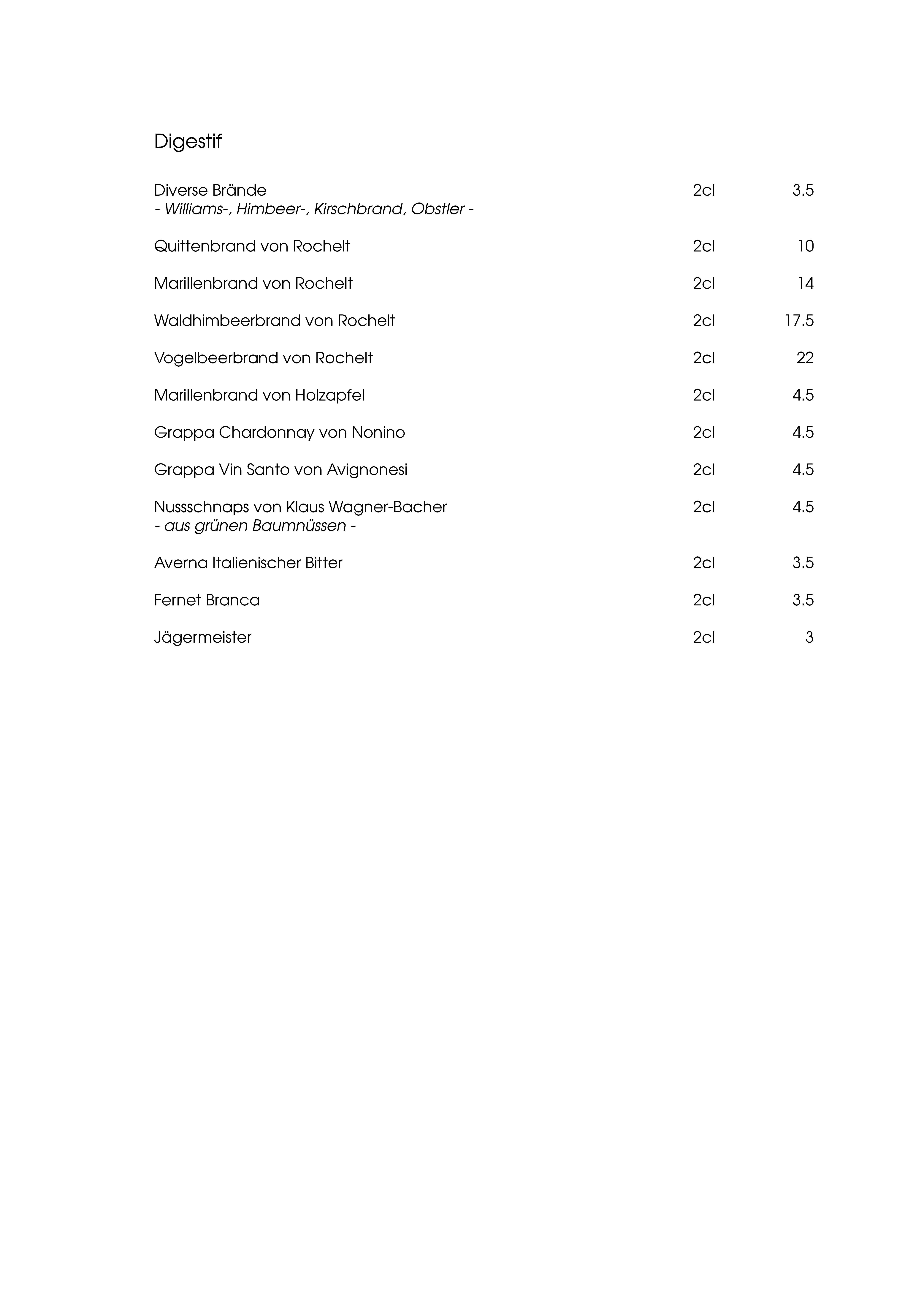 """Speisekarte """"zum Heurigen"""", Seite 9"""