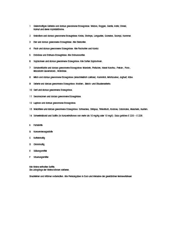 """Speisekarte """"zum Heurigen"""", Seite 16"""